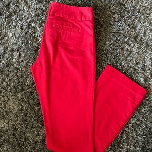 Express Red Columnist Dress Pant